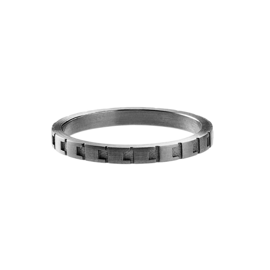 Jasmina Jovy Rhodium Assorted Decode Stacking Rings - Szor Collections