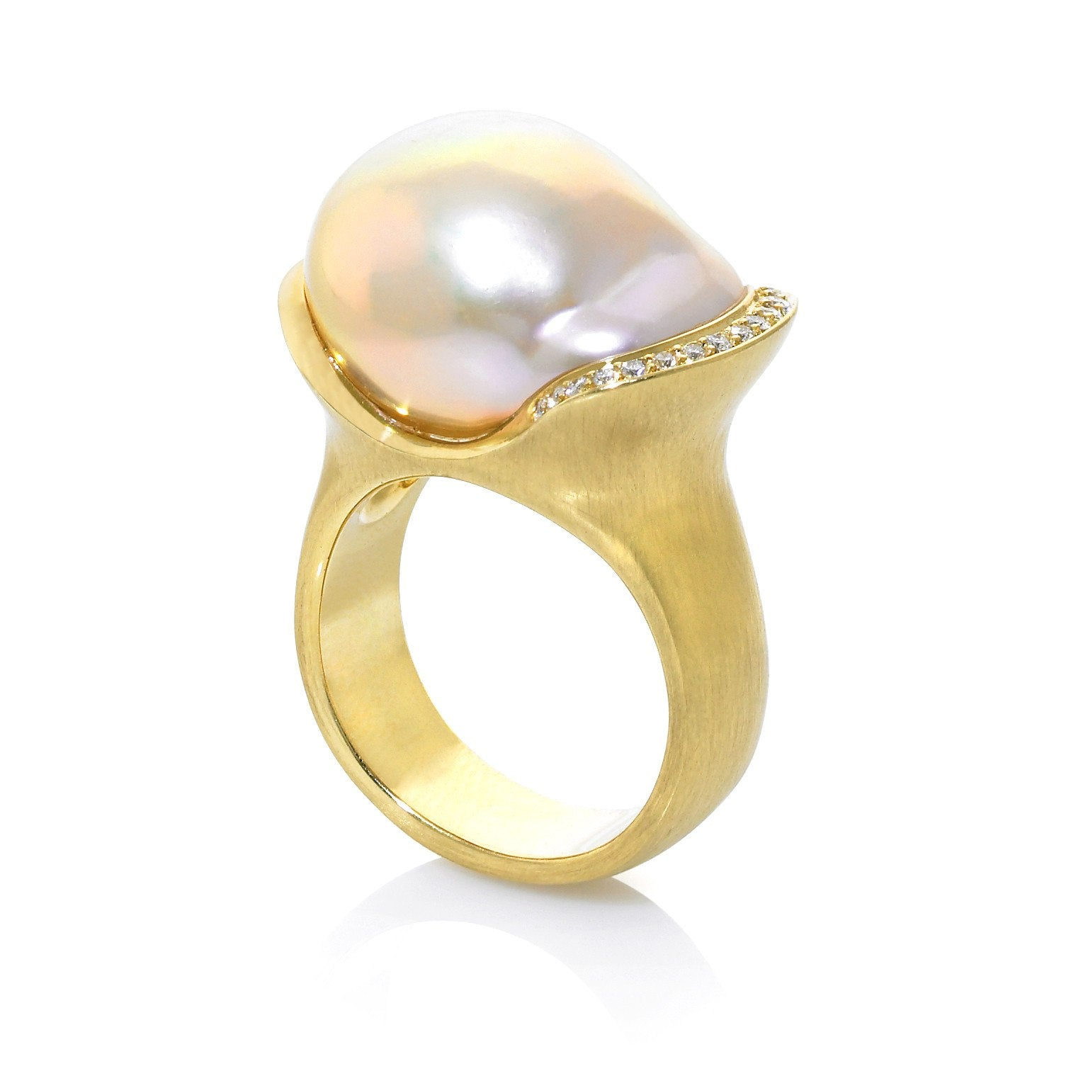 products freshwater aurea silver pearl rings grey ring engagement