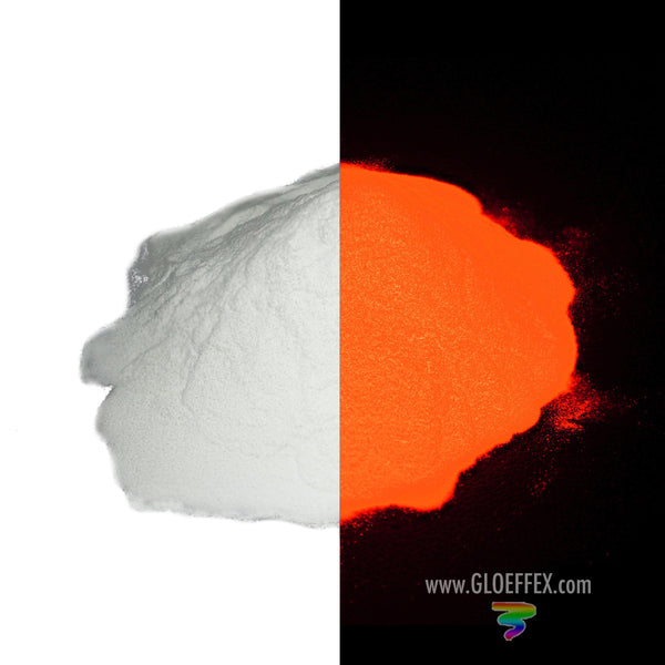 Phosphorescent Glow in the Dark Powder Pigment - Red - GLO Effex