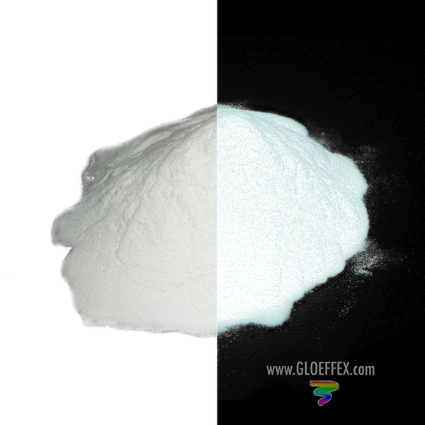 Phosphorescent Glow in the Dark Powder Pigment - White - GLO Effex