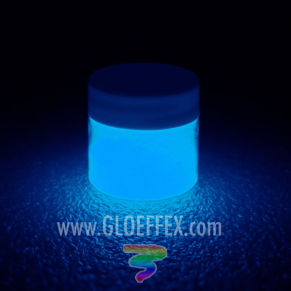 Phosphorescent Glow in the Dark Paint - Blue - GLO Effex