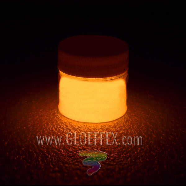 Phosphorescent Glow in the Dark Paint - Orange - GLO Effex