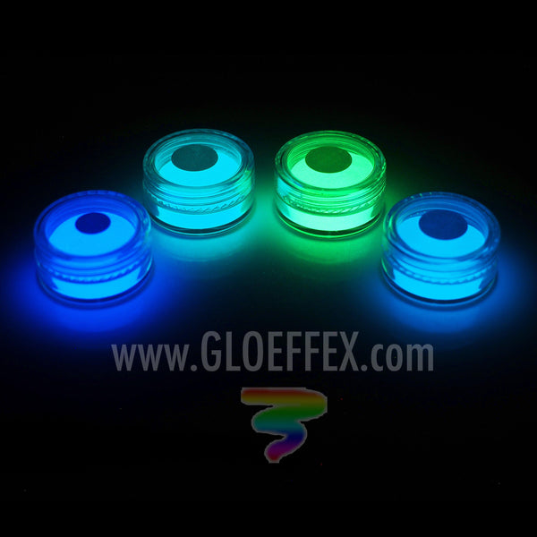 Phosphorescent Glow in the Dark Powder Pigment Sample Pack #2 - GLO Effex