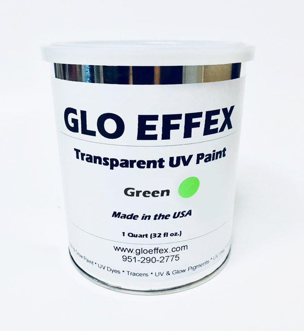 Transparent UV Reactive Paint - 1 qt (32 oz) - GLO Effex
