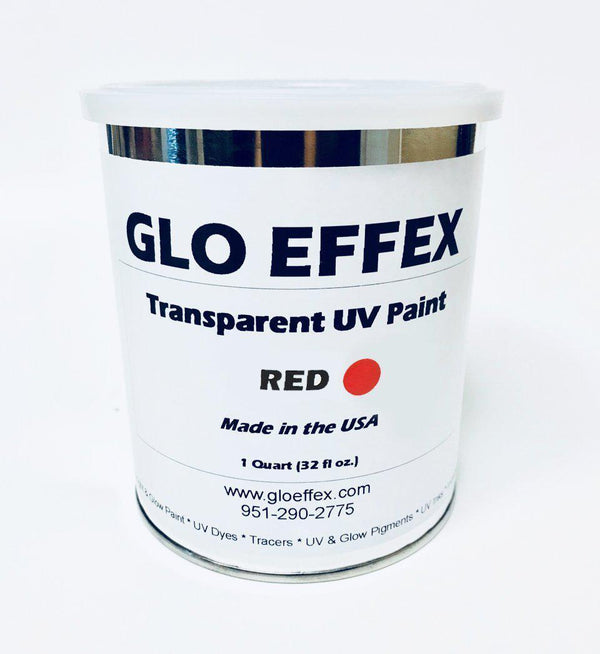 Transparent Water Based UV Reactive Paint - 1 Gallon - GLO Effex