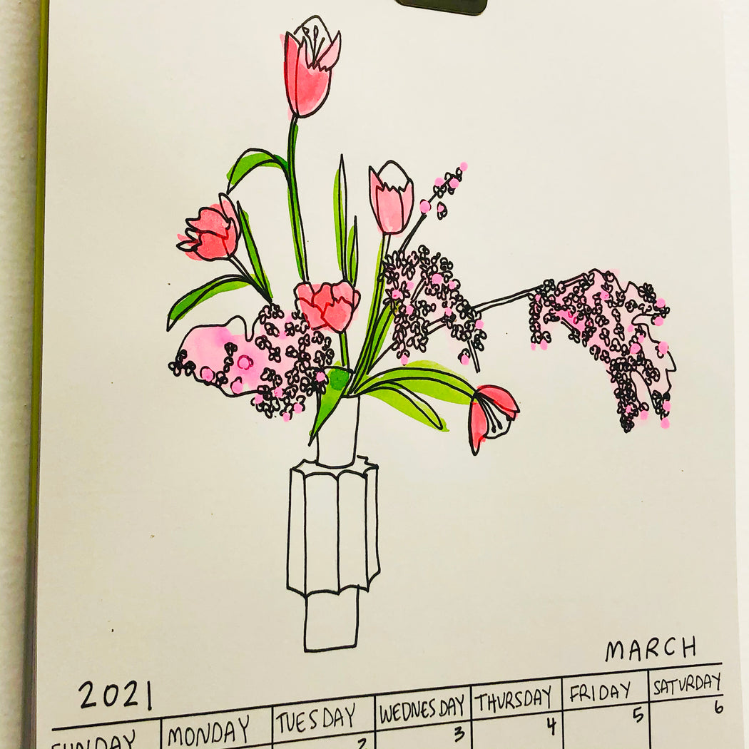 IKEBANA ARRANGEMENT A MONTH FOR 2021 CALENDAR