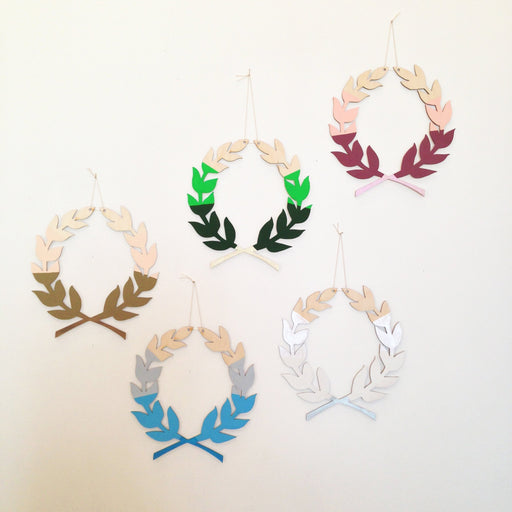 LAUREL WREATH WALL CHARM