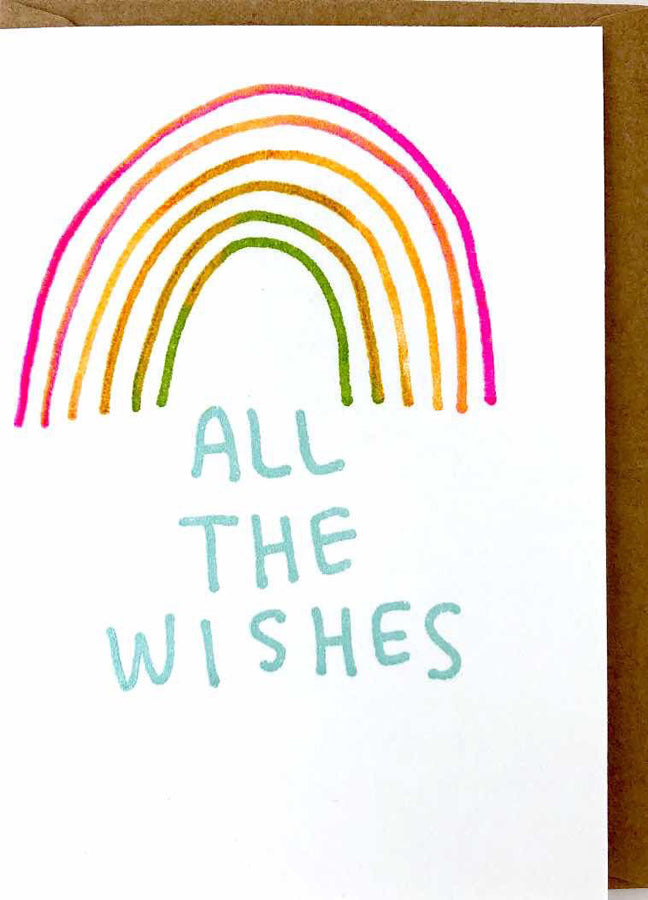 MINI NOTE CARD - ALL THE WISHES
