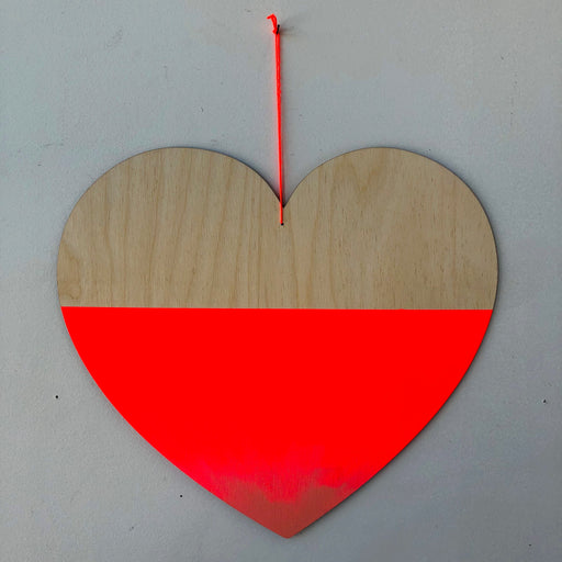 JUMBO HEART WALL CHARM - NEON RED