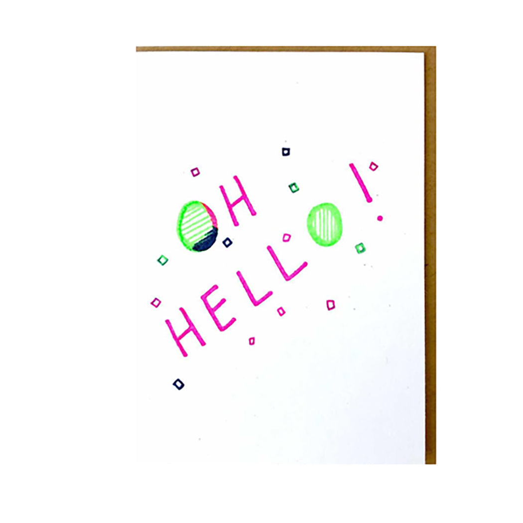 MINI NOTE CARD - OH HELLO!