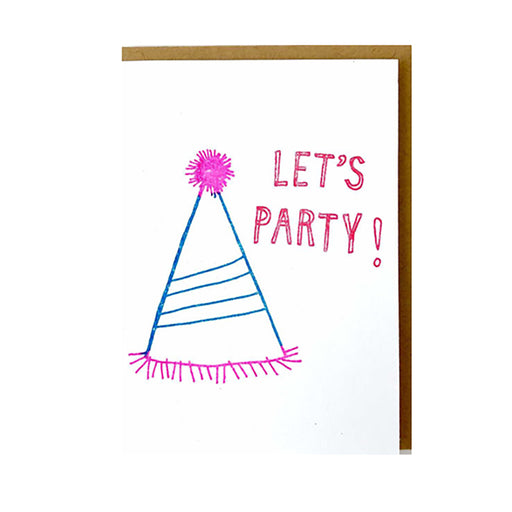 MINI NOTE CARD - LET'S PARTY