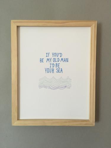 OLD MAN AND THE SEA PRINT