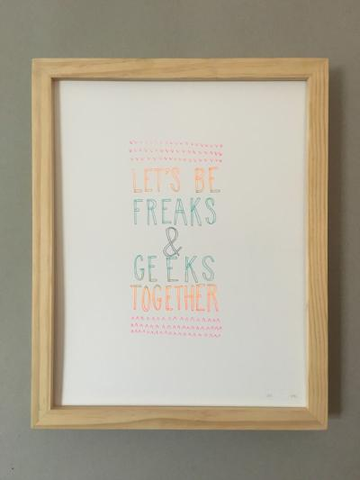 FREAKS AND GEEKS PRINT