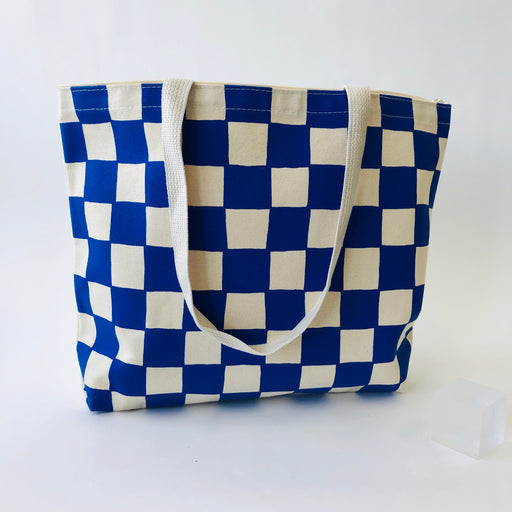 CHECKERBOARD TOTE BAG