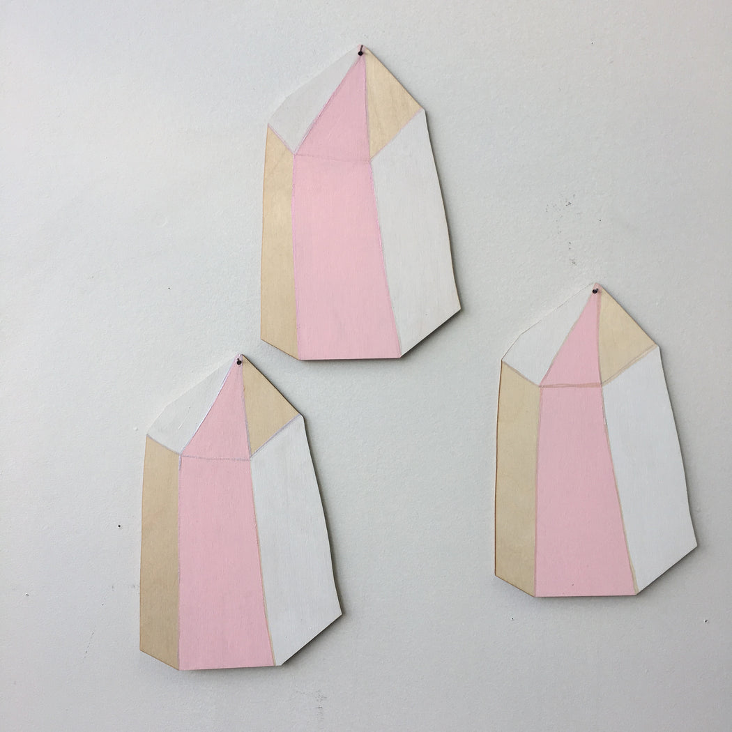 ROSE QUARTZ CRYSTAL WALL CHARM