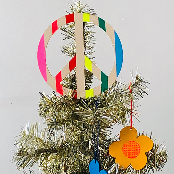 RAINBOW PEACE TREE TOPPER
