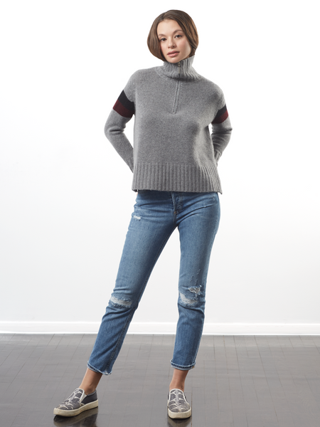 "<i id=""HT"">15</i> Oversized Zip Ski Sweater"