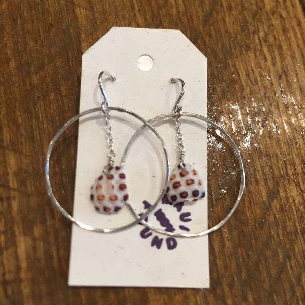 Maui Seashell Hoop Earrings by Pebbles and Marbles