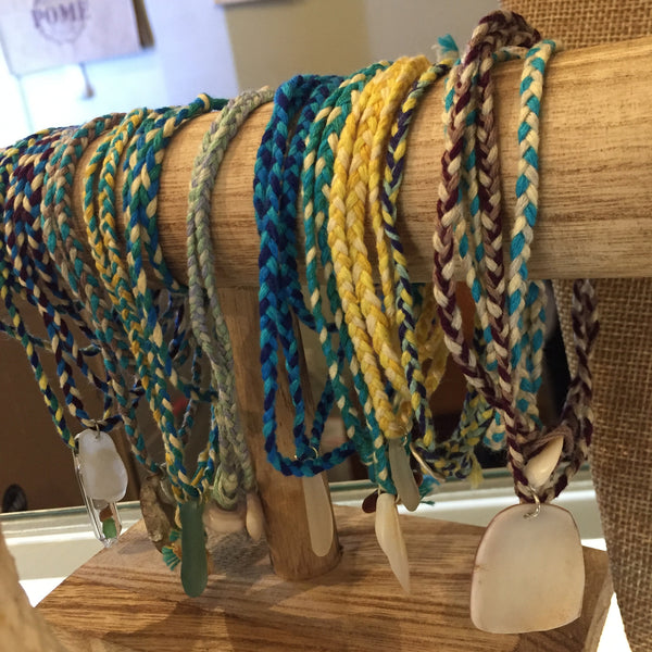 Seaglass and Seashell Friendship Bracelets by Pebbles and Marbles