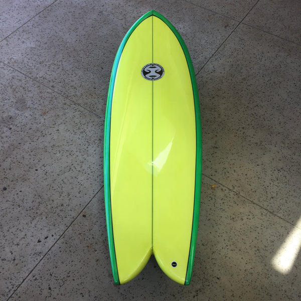 "5'9"" Pineapple Express by Jud Lau Surfboards"