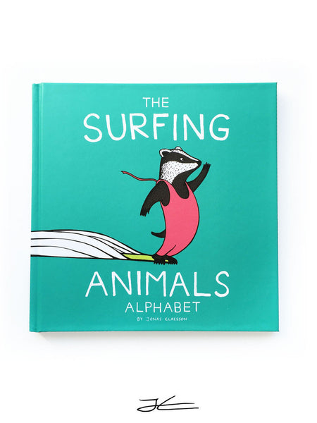 The Surfing Animals Alphabet Book by Jonas Claesson