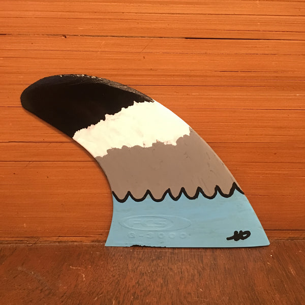 """Black Tip"" Fin Art by Happy Waves Brand"