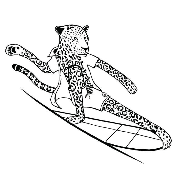 The Surfing Animals Coloring Book By Jonas Claesson