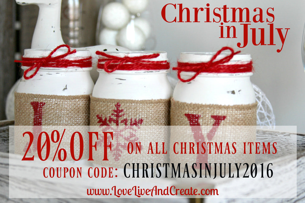 Christmas in July -20 % Off SALE