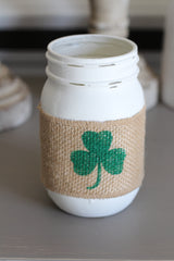 Mason Jar Clover decor