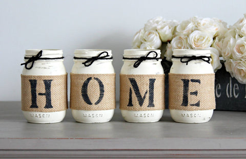 Rustic Tabletop Decor- Housewarming Gift - Jarful House