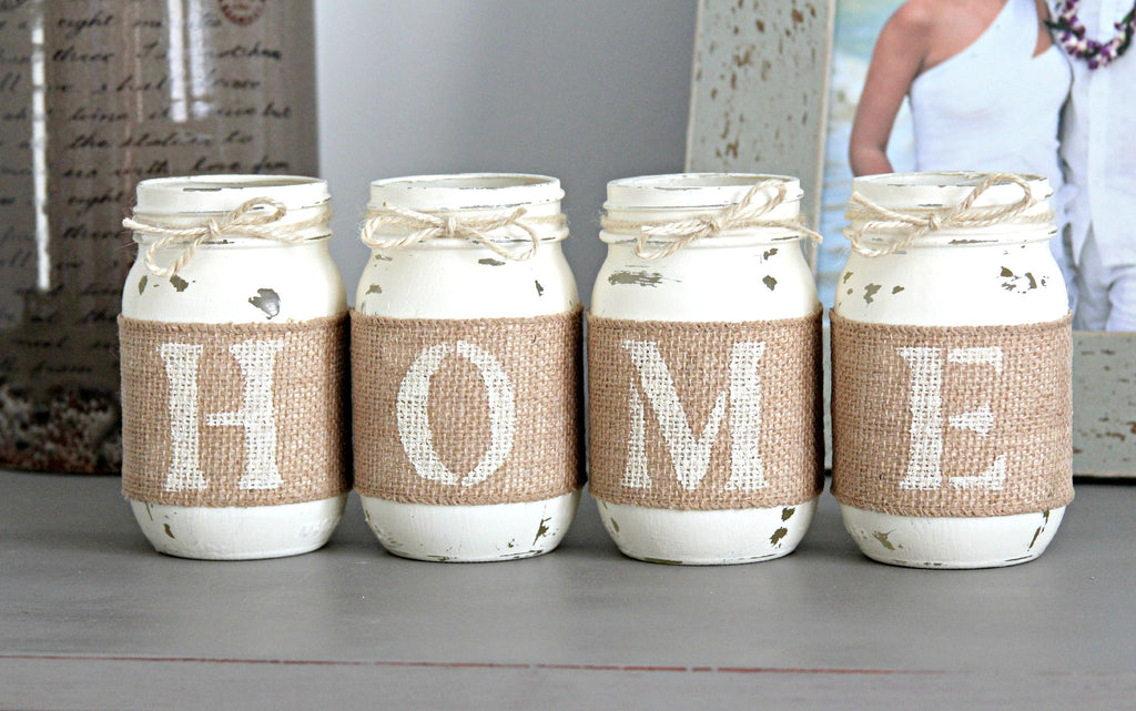 Rustic Home Decor | Housewarming Gift | Farmhouse Table Decor - Jarful House