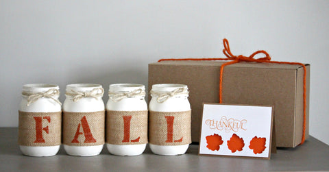 Thanksgiving Home Decor Gift Set | Fall Decor - One Sided - Jarful House