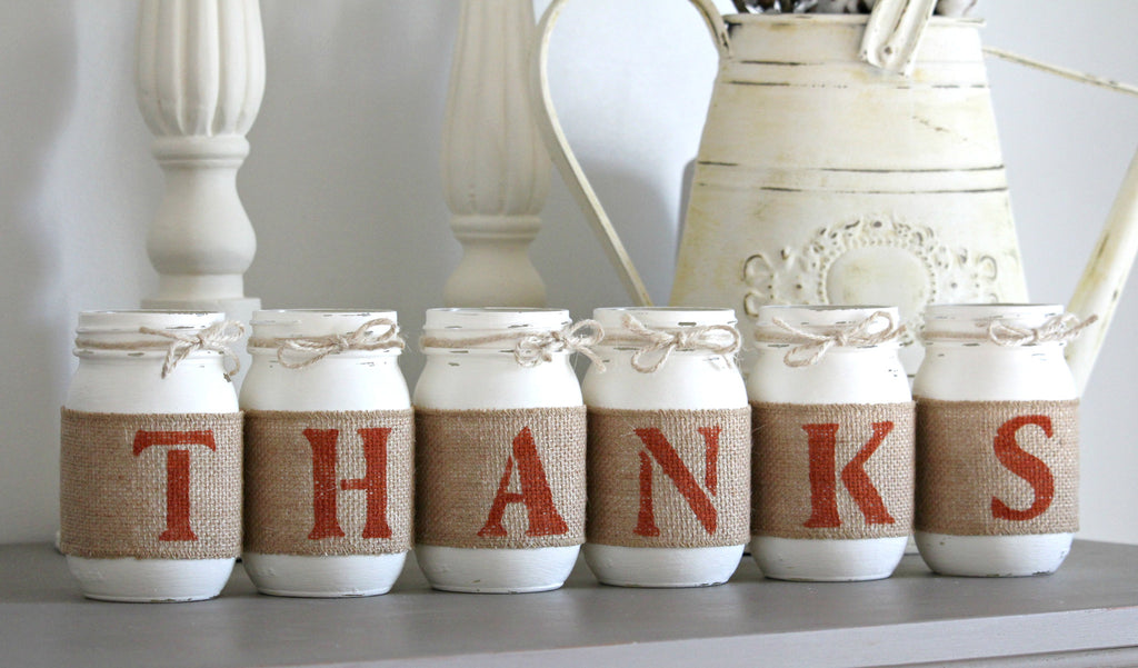 THANKFUL Rustic Home Decor - Two Sided - Jarful House