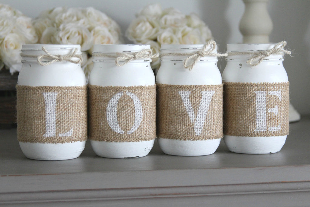 Rustic Valentine's Day Decor Gift Idea | Love - Two Sided - Jarful House
