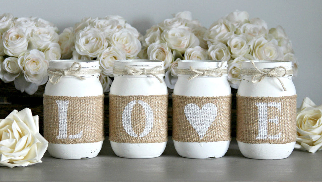 Pure White Valentine's Day Home Decor - One Sided - Jarful House