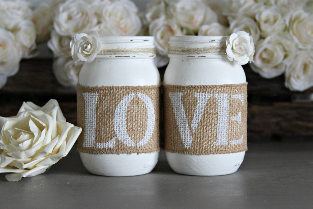 Rustic White Valentine's Day Decor - Jarful House
