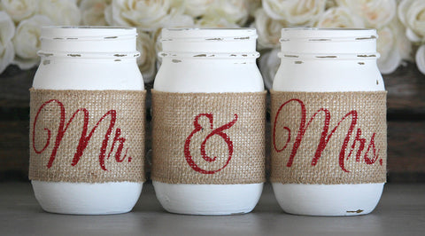 Rustic Engagement Party Table Decor - Jarful House