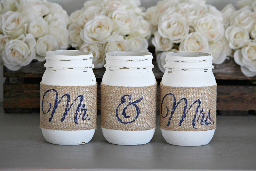 Rustic Bridal Shower Decor -Engagement Gift - Jarful House