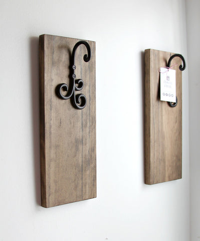 Set of 2 Rustic Sconces without Jars -Farmhouse Decor