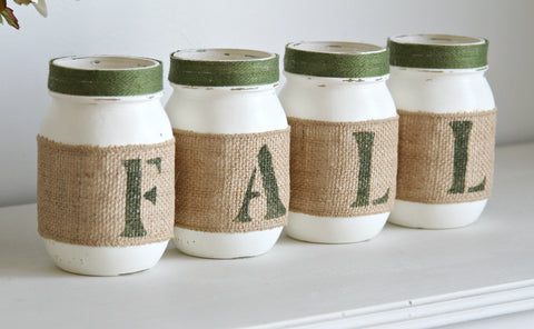 Green Fall Entryway Decor | Thanksgiving Table Decor - TWO SIDED - Jarful House