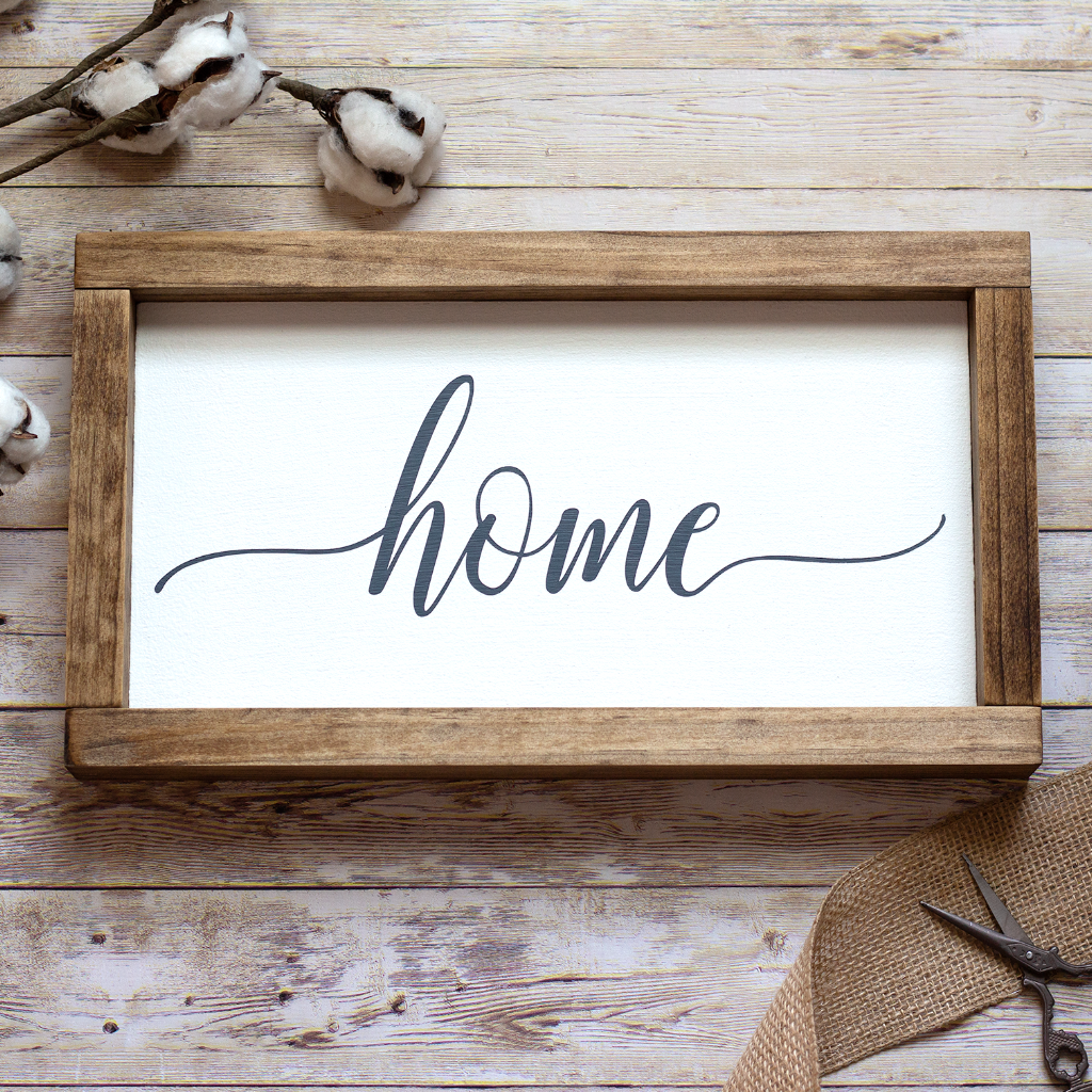 Home Rustic Wall Sign - Small Rustic Wall Decor - Jarful House