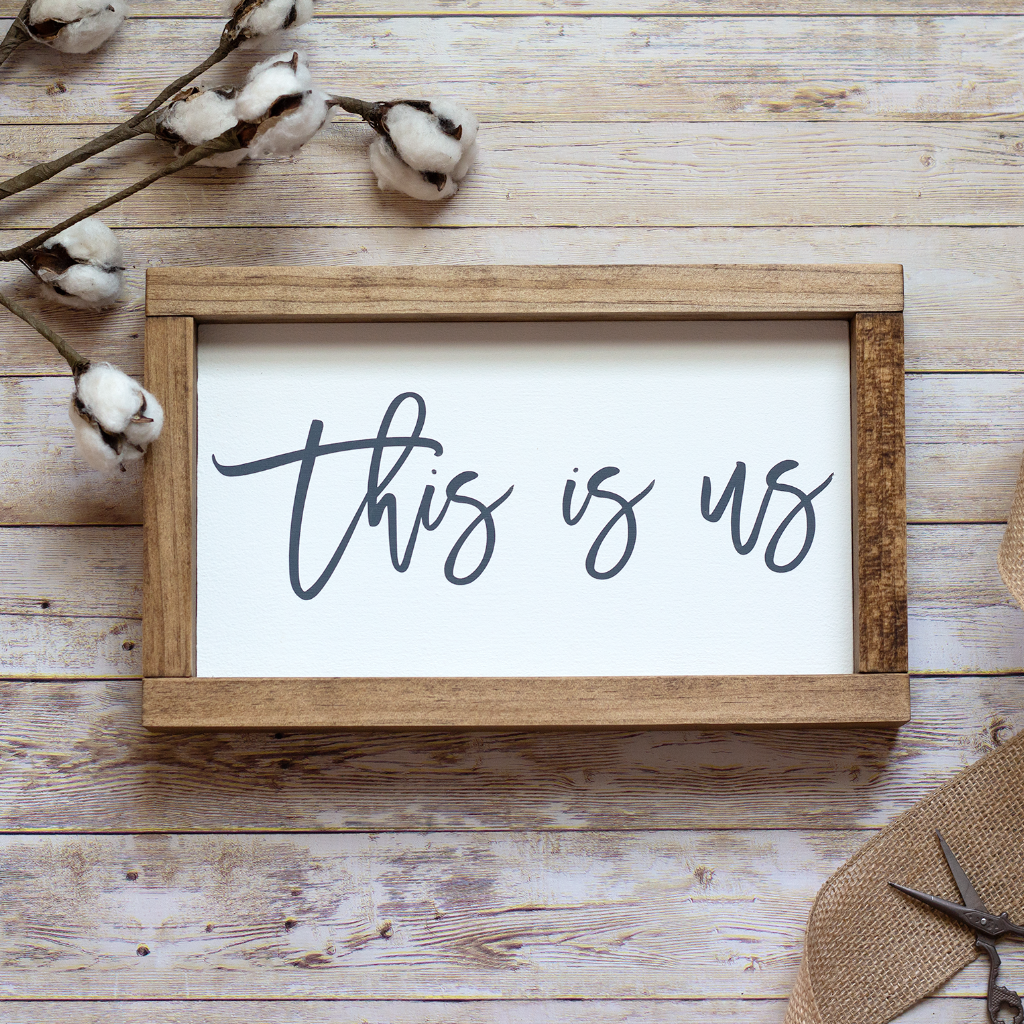 This is Us Rustic Wall Sign - Small Rustic Wall Decor - Jarful House