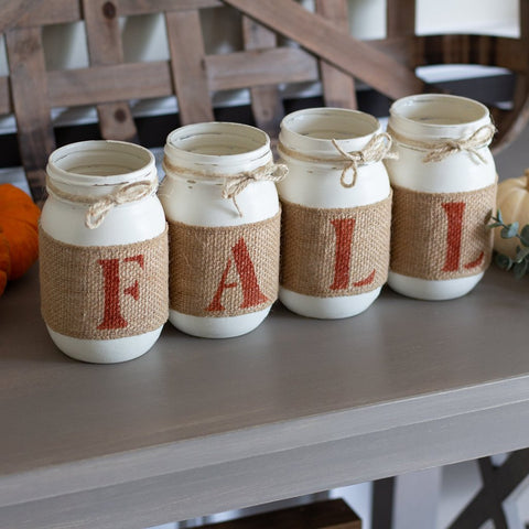 Farmhouse Fall Table Decor | Thanksgiving Centerpieces |  Rustic Fall Decor - ONE SIDED - Jarful House