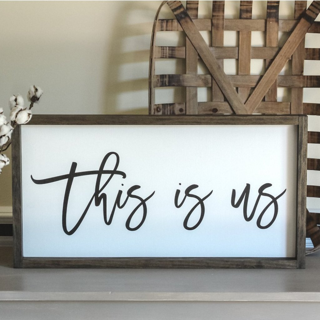 "Farmhouse Wall Sign "" This is Us"" 