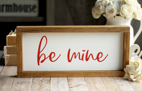 Rustic Wall Sign Be Mine | Valentine's Day Home Decor - Jarful House
