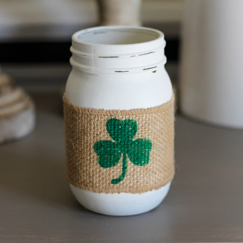 St.Patrick's Day Decor | Clover Table Centerpiece - Jarful House
