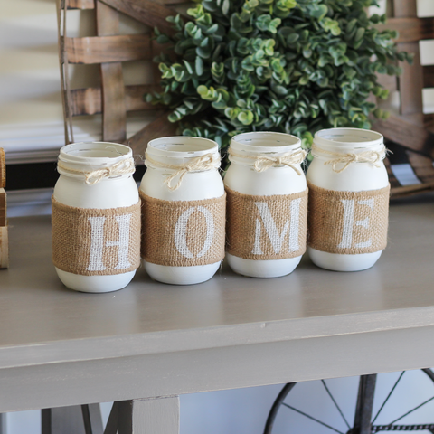 Rustic Home Decor | Housewarming Gift | Farmhouse Table Centerpiece - Jarful House