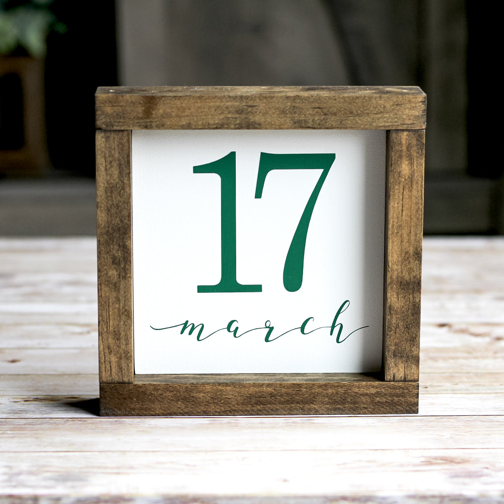 St.Patrick's Day Decor Irish Decoration 17 March Wall Sign 7 x 7 Inches - Jarful House