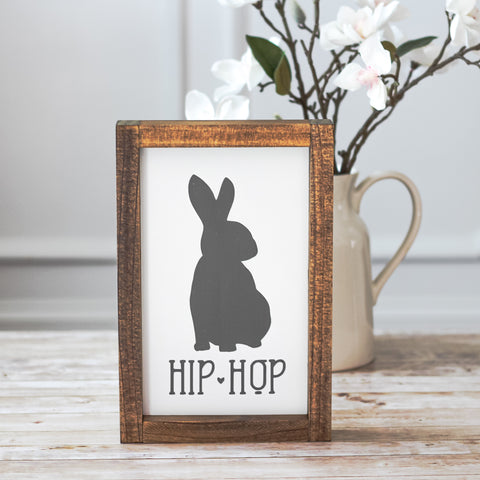 Easter Home Decor Gray Hip Hop Bunny