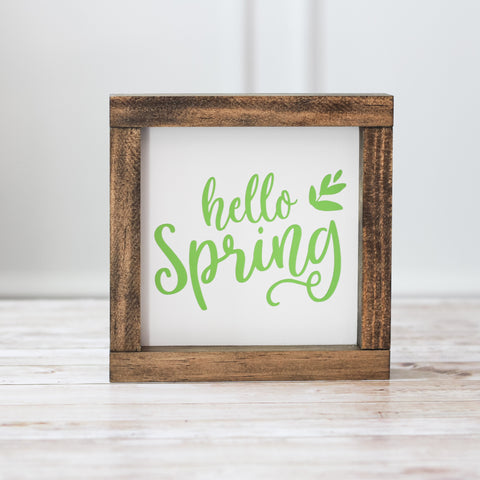 Spring Wall Sign  - Hello Spring Home Decor
